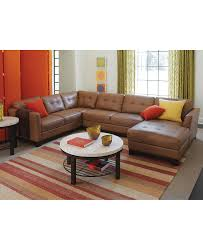 Leather Sectional Living Room Furniture Martino Leather Sectional Living Room Furniture Collection