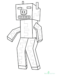 minecraft coloring pages zombie pigman coloring pages to print out for free