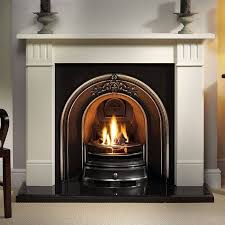 gallery clarendon limestone fireplace with landsdowne cast iron arch