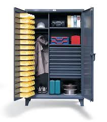 Storage Bin Cabinet Strong Hold Products Industrial Uniform And Bin 7 Drawer Storage