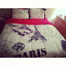 my new paris bedspread from anna s linen pink sheets are from target
