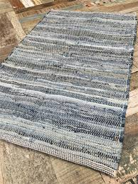 blue denim cotton chindi rag rug various sizes available