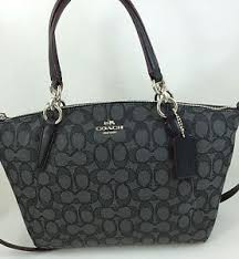 Image is loading New-Coach-F58283-Signature-Small-Kelsey-Satchel-Purse-