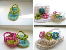 Crochet Baby Sandals Pattern Custom DIY Project How To Crochet Baby Sandals [video] Home Design