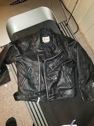 vintage bermans leather motorcycle jacket