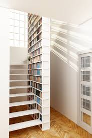 Unique steel staircase with integral library, design proposal for a private  client, London,