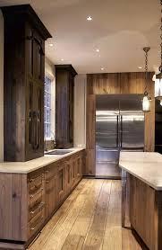 cabin kitchen design. Mark Hickman Homes | Rustic Kitchen Cabin Design