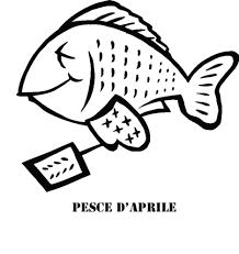 Disegno Di Pesce Di Aprile Da Colorare Per Bambini Con Disegni Di