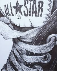 converse shoes drawing. still life - drawing art lesson using close up of shou or other personal oblect converse shoes