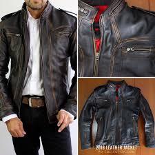 <b>2018</b> AX <b>Leather</b> Jacket Distressed Black | Cafe racer <b>leather</b> jacket ...