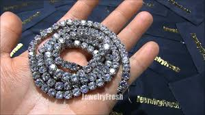 Jewelry Fresh Exclusive VVS Flawless Lab Diamond Chain Incredible 115  Carats - YouTube