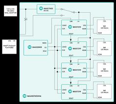 maxrefdes99 display driver shield maxim mouser functional block diagram