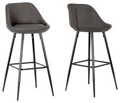 aldis brown faux leather bar stools with black metal legs set of 2 brown bar stools ladder back metal bar stool