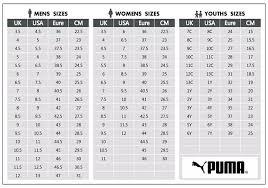Puma Size Chart Www Irishpostoffices Org