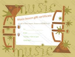 Gift Voucher Template Word Classy Trumpet Themed Gift Certificate Template