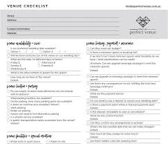 free printable wedding venue checklist Wedding Venue Checklist Printable wedding venue checklist printable wedding venue checklist printable pdf