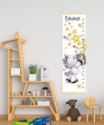 Personalised Height Chart Personalised Height Chart Unicorn Canvas Growth Chart Custom
