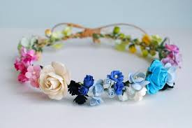 Paper Flower Headbands Paper Flower Headband Crown Only One Piece Circle Wild 20 Cm Of
