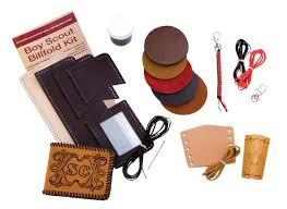 leatherwork merit badge wallet kit