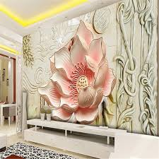 Small Picture beibehang photo wallpaper Relief lily magnolia stereoscopic