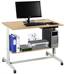 amazing home appealing computer desk with wheels in sts 7801 compact portable w hutch shelf