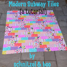 Schnitzel & Boo: Tutorial: Modern Subway Tile Quilt & Here's the thing about me and quilting. I don't really know the official  names of blocks (aside from Churn Dash, Log Cabin and Virginia Star) and I  don't ... Adamdwight.com