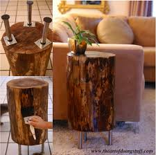wood stump furniture. Link \u003d\u003e Http://www.theartofdoingstuff.com/stumped-how-to-make-a-tree-stump- Table/ Wood Stump Furniture