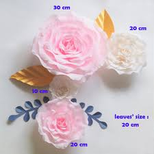 Giant Paper Flower Backdrop Crepe Giant Paper Flowers Backdrop Artificial Handmade Crepe Paper