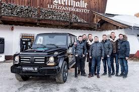 G Electric Arnold Schwarzenegger Picks Up Electric G Wagen In Austria Photo