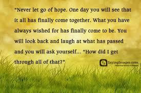 Hopeful Quotes Classy 48 Inspirational Hope Quotes Sayings SayingImages