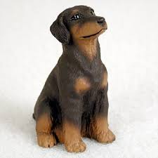 Red Doberman Pinscher Dog Figurines