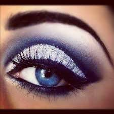how do you do smokey eye makeup for blue eyes