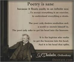 Gk Chesterton Quotes Magnificent Poetry Is Sane GK Chesterton Religion And Spirituality