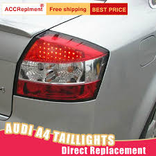 Details About For Audi A4 Led Taillights Assembly Red Led Rear Lamps 2002 2005