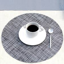 2019 pvc round dining table mat heat insulation non slip placemats disc bowl tableware linen table pads coaster kitchen accessories from kenedy