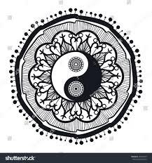 Stock Vektory Na Téma Vintage Yin Yang Mandala Tao Symbol Bez