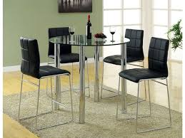 dining tables bar height dining table set white counter height table glass circle table with
