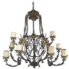 19th century spanish wrought iron chandelier