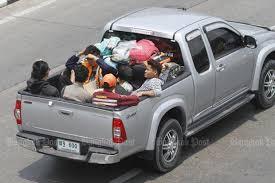 Passengers allowed in back of pickups | Bangkok Post: news