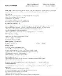 Security Job Resume Samples Security Guard Resume Sample Security