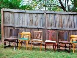 eclectic outdoor furniture. Eclectic Dining Room Chairs In Yard Outdoor Furniture