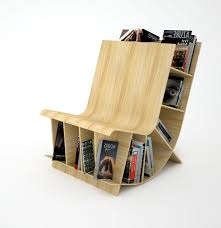 wooden bookcase chair
