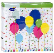 <b>Салфетки Duni Balloons бумажные</b> 3 слоя, 33*33см, 20шт купить ...