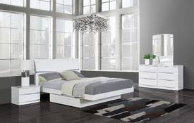 white modern platform bed. High Gloss Finish White Modern Platform Bed