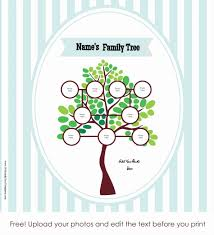 Free Editable Family Tree Template Free Editable Blank Family Tree Template For Mac Printable