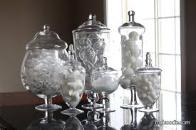 Winter Decorating with Apothecary Jars