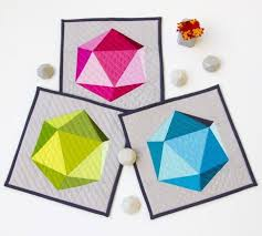 Best 25+ Geometric quilt ideas on Pinterest | Modern quilt ... & Geometric Quilt, in three colorstories (blue, pink, and green)! Designed Adamdwight.com