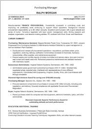 Procurement Specialist Resume Optional Quintessence Samples