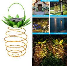 Pineapple Leaf 1 Light White Pendant Vplus Solar Powered Vintage Copper Pineapple Hanging Light
