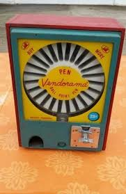 Pen Vending Machine Cool Vendorama Pen Vending Machine WORKING Original RED Case W KEY